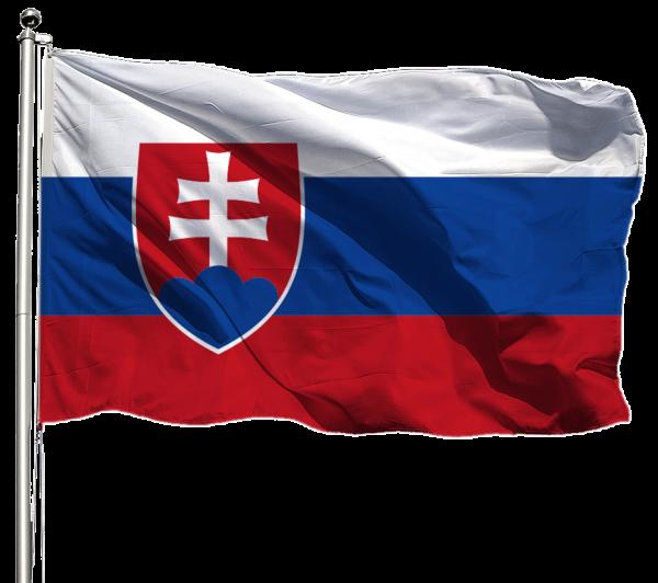 Slowakei Flagge Querformat Premium-Qualität