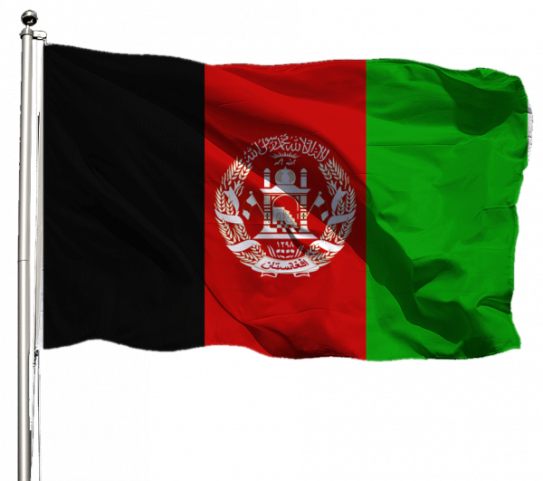 Afghanistan Flagge Querformat Premium-Qualität
