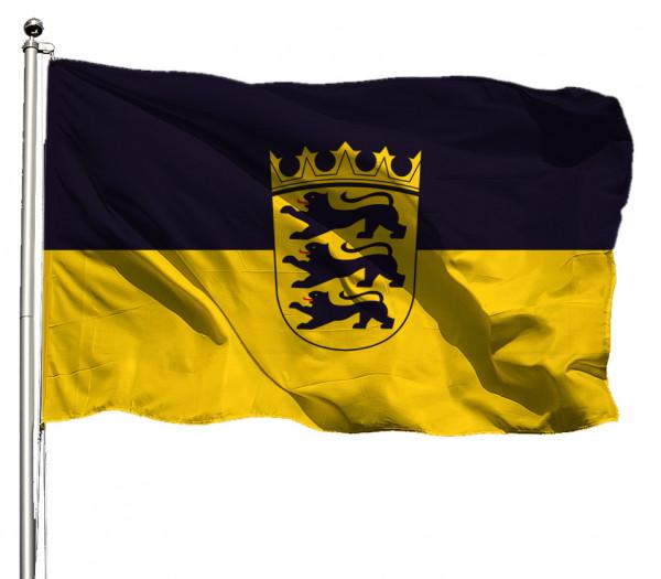 Flagge Baden-Württemberg mit Wappen Querformat Premium-Qualität