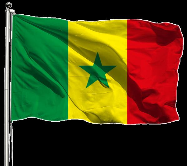 Senegal Flagge Querformat Premium-Qualität