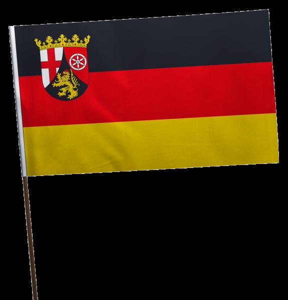 Stockflagge Rheinland-Pfalz Premium-Qualität