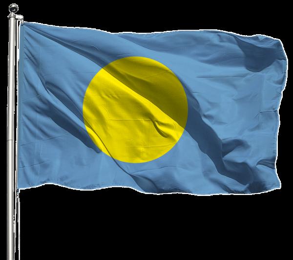 Palau Flagge Querformat Premium-Qualität
