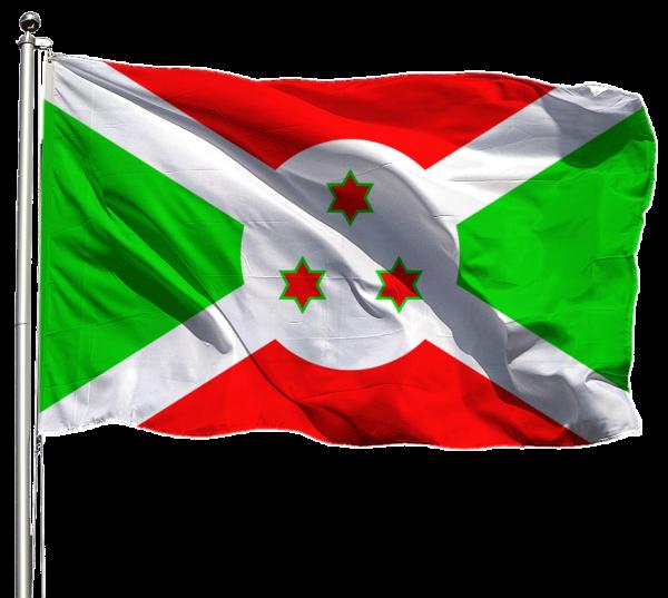 Burundi Flagge Querformat Premium-Qualität
