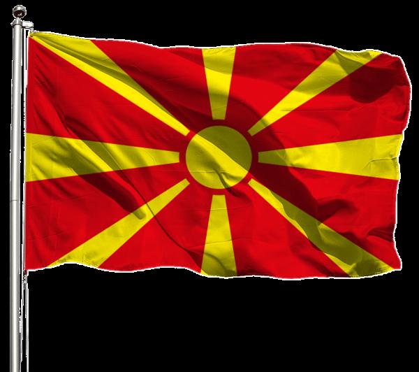 Nordmazedonien Flagge Querformat Premium-Qualität