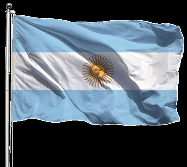 Argentinien Flagge Querformat Premium-Qualität