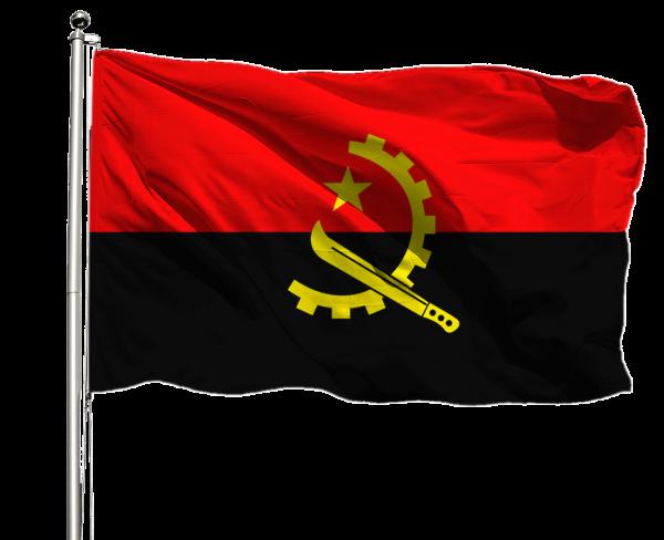 Angola Flagge Querformat Premium-Qualität