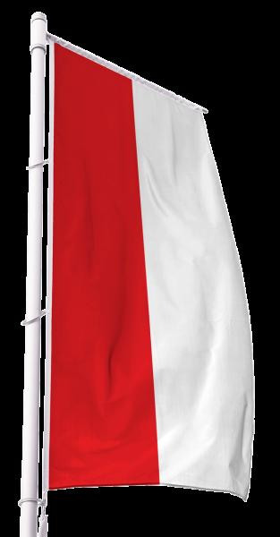 Rot-Weiß Kirchenfahne im Hochformat Premium