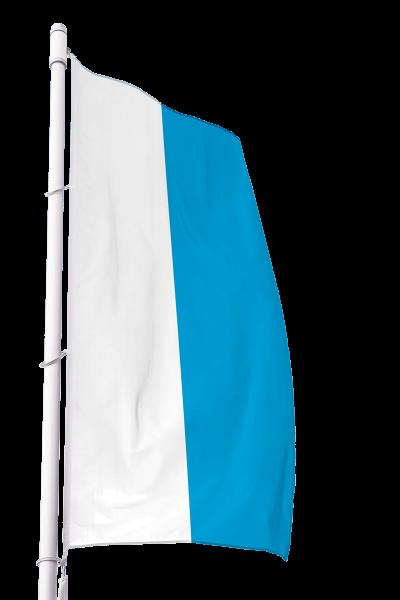Flagge Bayern Dienst ohne Wappen im Hochformat Premium