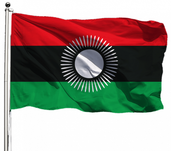 Malawi Flagge Querformat Premium-Qualität