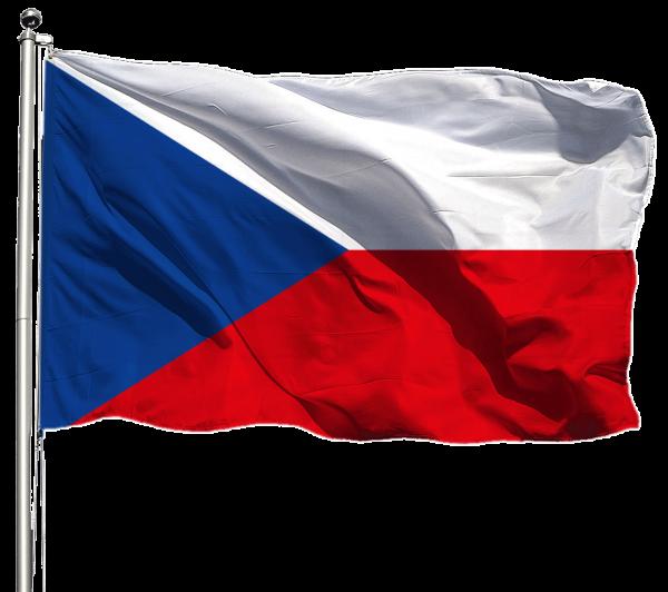 Tschechien Flagge Querformat Premium-Qualität