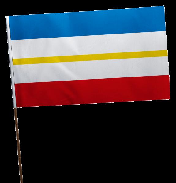 Stockflagge Mecklenburg-Vorpommern ohne Wappen Premium-Qualität