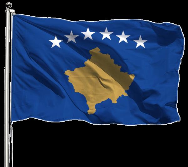 Kosovo Flagge Querformat Premium-Qualität