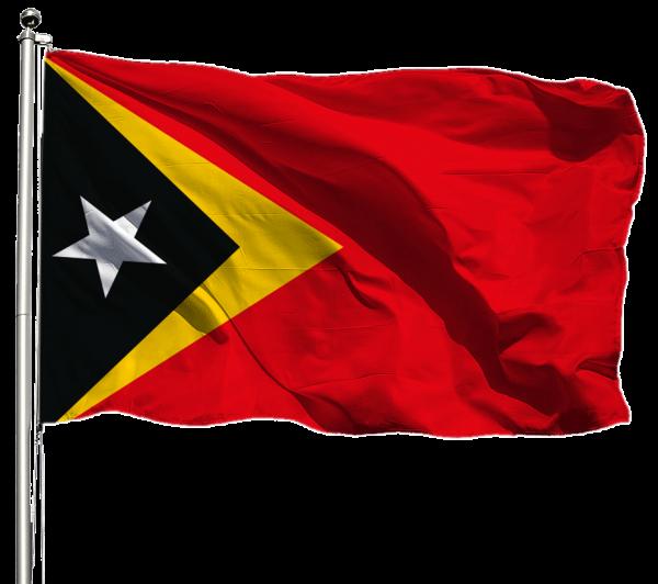 Osttimor Flagge Querformat Premium-Qualität