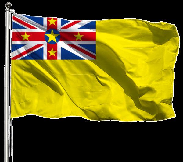 Niue Flagge Querformat Premium-Qualität