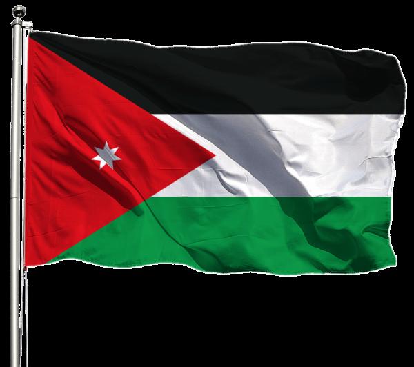 Jordanien Flagge Querformat Premium-Qualität