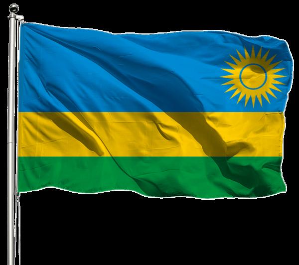 Ruanda Flagge Querformat Premium-Qualität