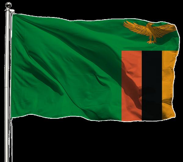 Sambia Flagge Querformat Premium-Qualität