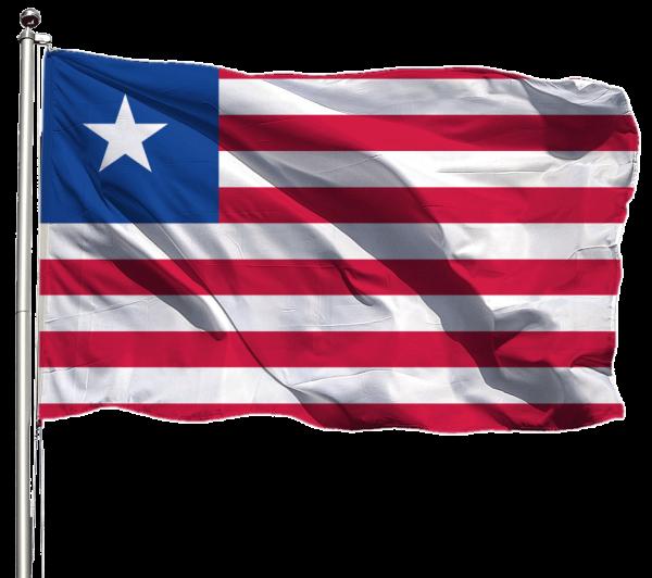 Liberia Flagge Querformat Premium-Qualität