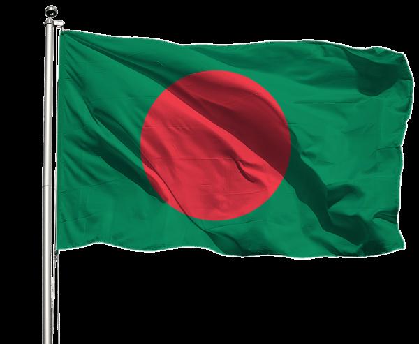 Bangladesch Flagge Querformat Premium-Qualität