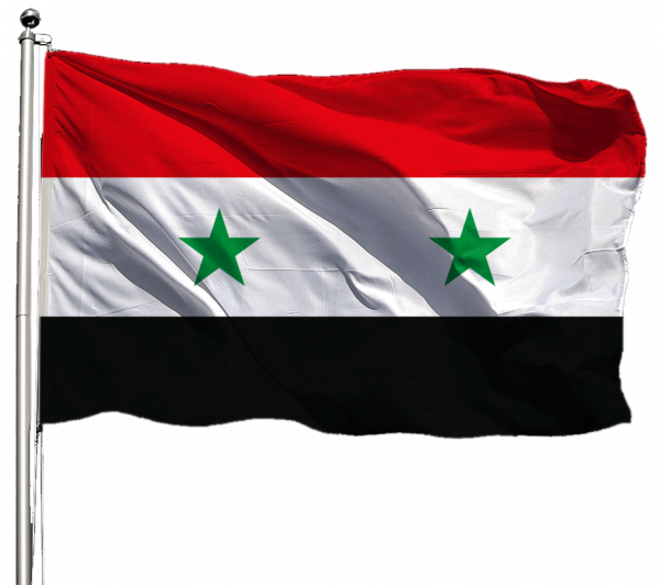 Syrien Flagge Querformat Premium-Qualität