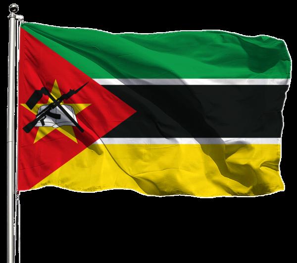 Mosambik Flagge Querformat Premium-Qualität