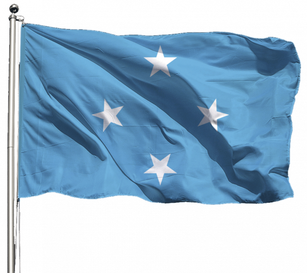 Mikronesien Flagge Querformat Premium-Qualität