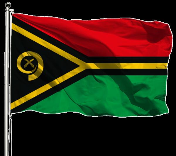 Vanuatu Flagge Querformat Premium-Qualität