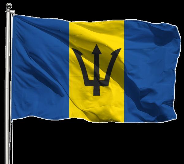 Barbados Flagge Querformat Premium-Qualität