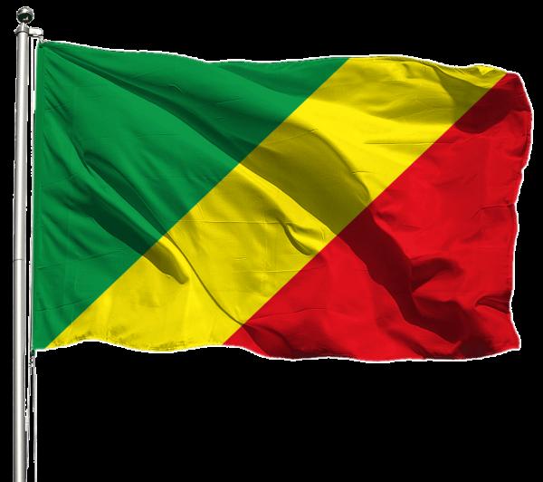 Kongo Brazzaville Flagge Querformat Premium-Qualität