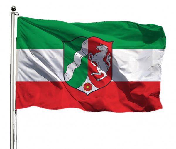 Flagge Nordrhein-Westfalen mit Wappen Querformat Premium-Qualität