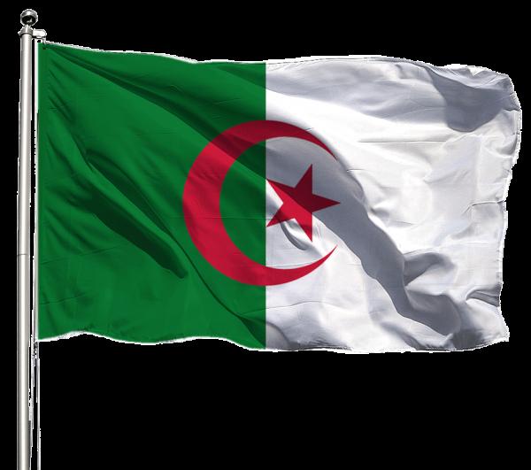 Algerien Flagge Querformat Premium-Qualität