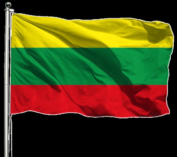 Litauen Flagge Querformat Premium-Qualität