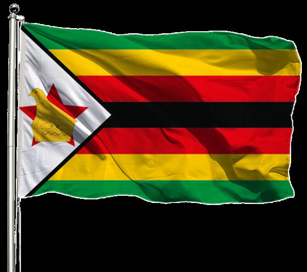 Simbabwe Flagge Querformat Premium-Qualität