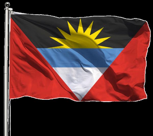Antiguna & Barbuda Flagge Querformat Premium-Qualität