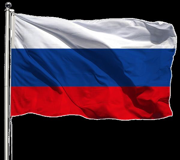 Russland Flagge Querformat Premium-Qualität