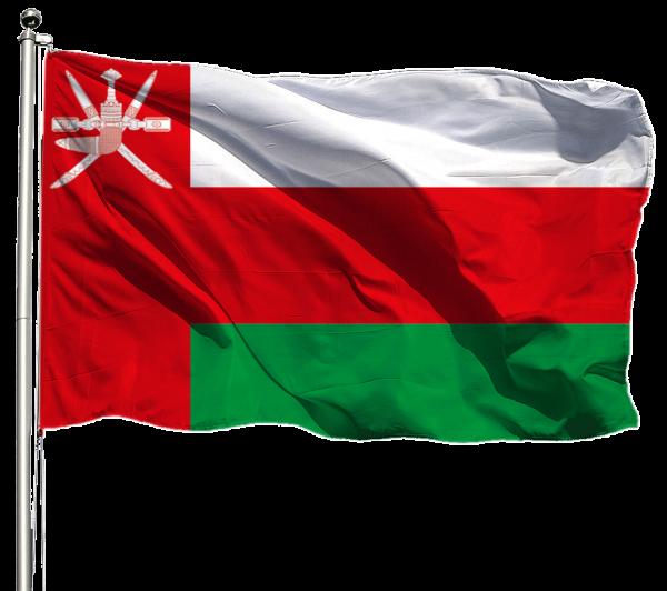 Oman Flagge Querformat Premium-Qualität