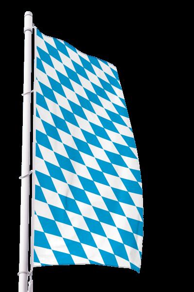 Flagge Bayern Raute ohne Wappen im Hochformat Premium