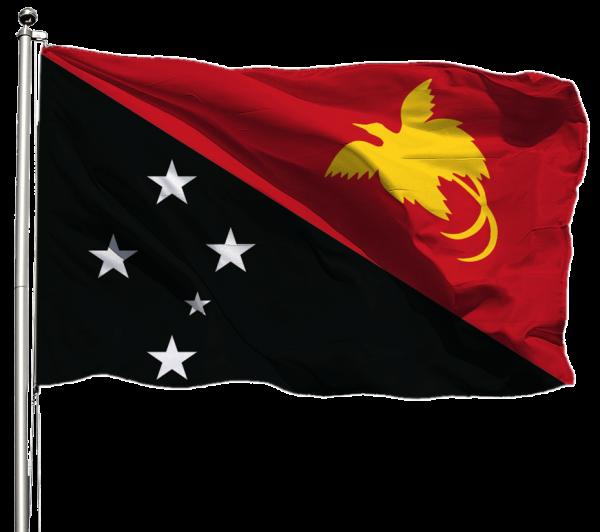 Papua-Neuguinea Flagge Querformat Premium-Qualität
