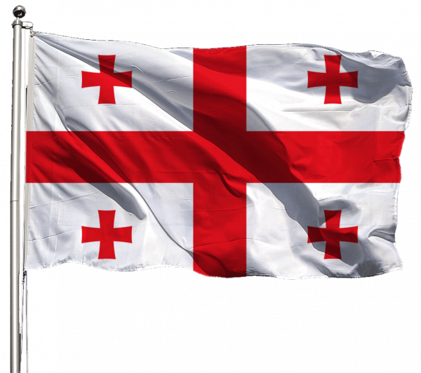 Georgien Flagge Querformat Premium-Qualität