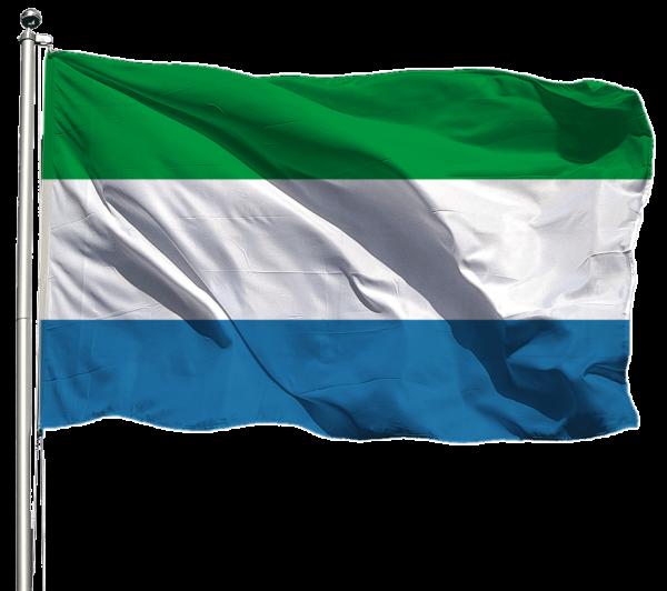 Sierra Leone Flagge Querformat Premium-Qualität