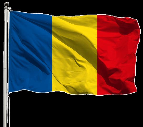 Rumänien Flagge Querformat Premium-Qualität