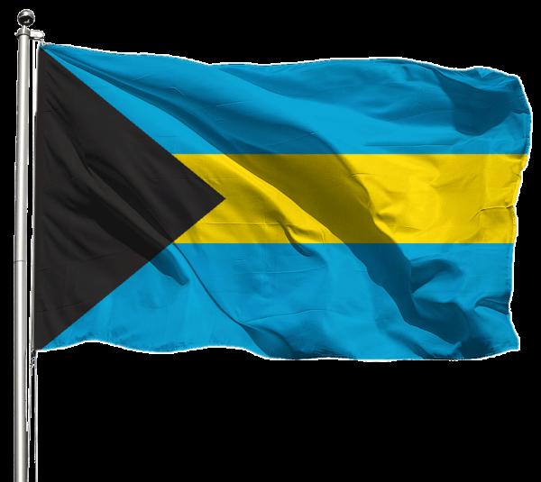 Bahamas Flagge Querformat Premium-Qualität