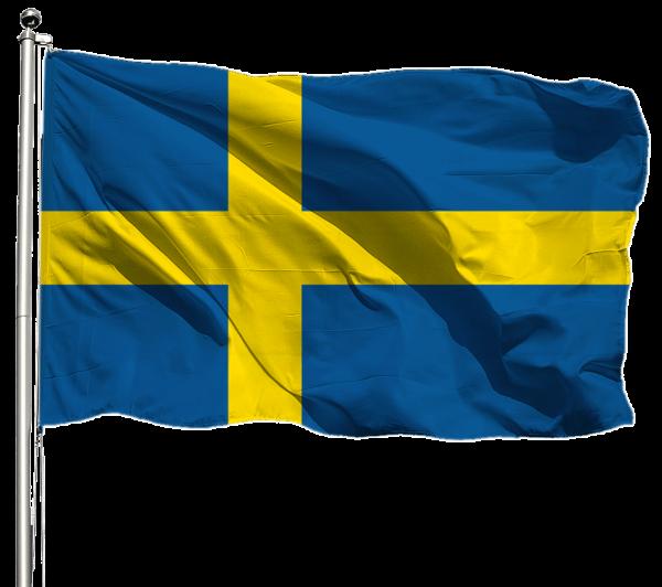 Schweden Flagge Querformat Premium-Qualität