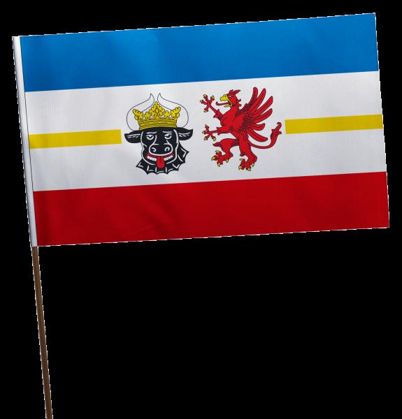 Stockflagge Mecklenburg-Vorpommern Premium-Qualität