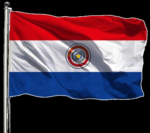 Paraguay Flagge Querformat Premium-Qualität