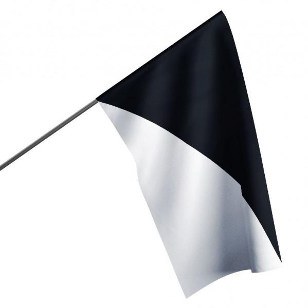 Motorsportflagge SCHWARZ-WEIß