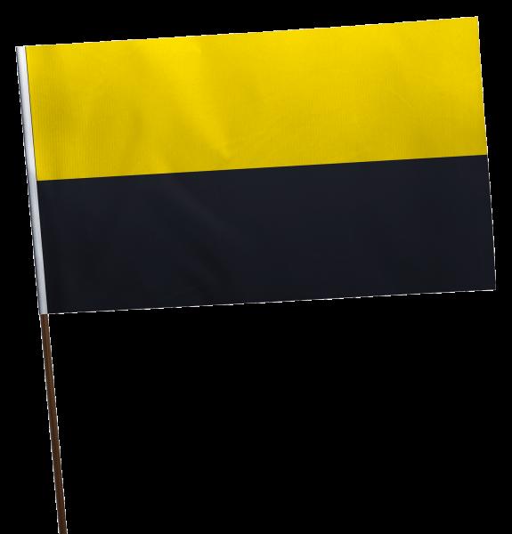 Stockflagge Sachsen-Anhalt ohne Wappen Premium-Qualität