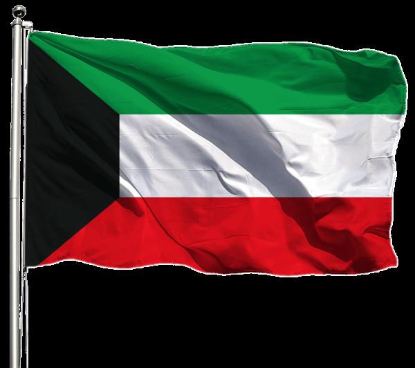 Kuwait Flagge Querformat Premium-Qualität
