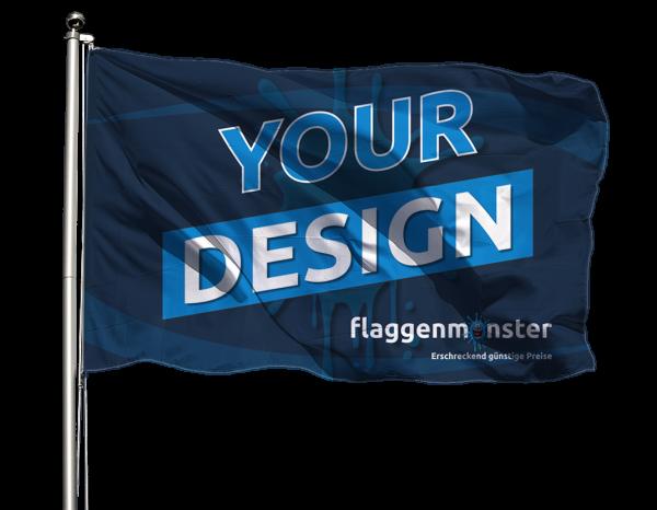 Vereinsflagge im Querformat Premium-Qualität
