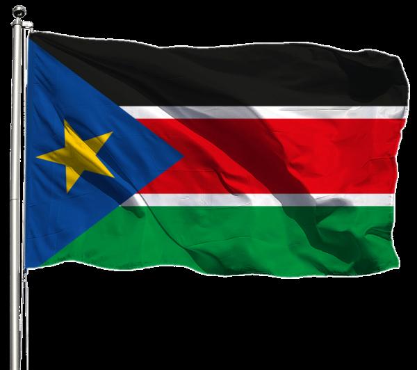 Südsudan Flagge Querformat Premium-Qualität